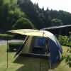 公園でテントとタープの試し張りしてきました!