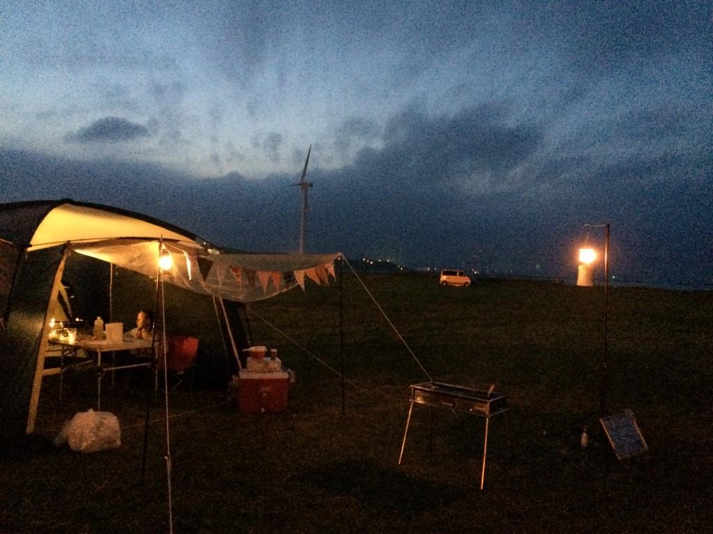 キャンプ夜の写真