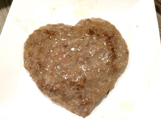 バレンタインにハートの肉